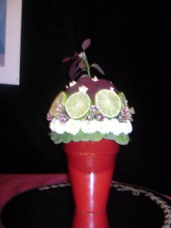 Flowers and limes